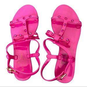 Kate Spade Savannah Studded Pink Jelly Sandals